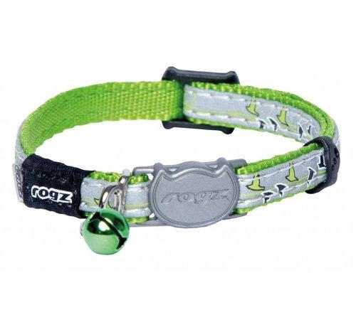 Rogz Cat Collar NightCat Lime Swallows