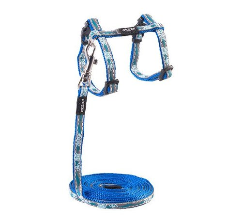 Rogz Kattentuig NightCat Blue Floral