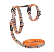 Rogz Cat Harness NightCat Orange Birds