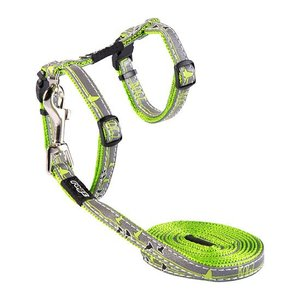 Rogz Cat Harness NightCat Lime Swallows