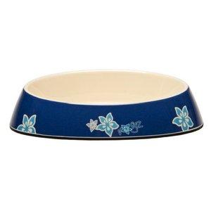 Rogz Cat Bowl Blue Floral