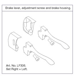 TrustCare Let's Fly S Brake Lever Left+Right Adjustment Screw and Brake House