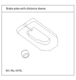 TrustCare Brake yoke with distance sleeve