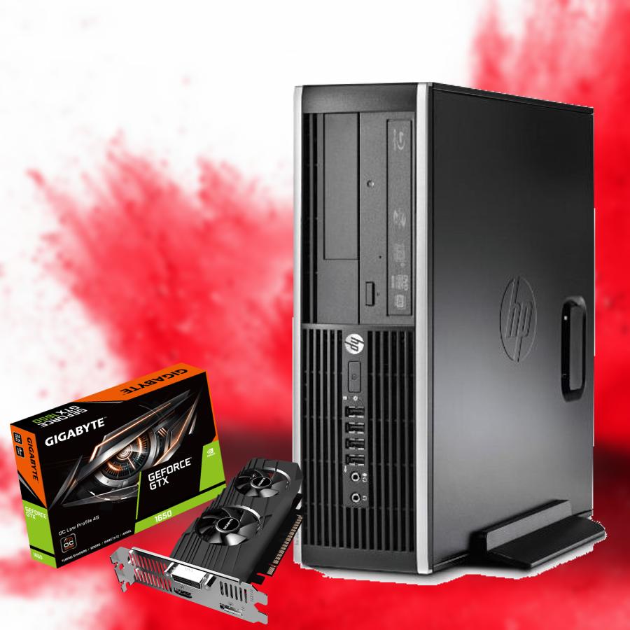 Gaming PC Refurbished HP EliteDesk 8300 SFF - GTX 1650 OC 4GB