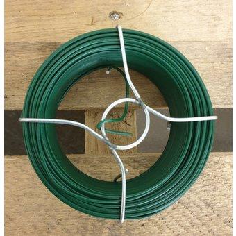 Spoel Vlechtdraad Groen Geplastificeerd ø1,35mm