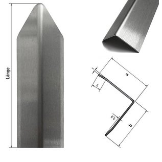 Versandmetall Eckschutzwinkel modern 3-fach gekantet, für Mauern Ecken und Kanten 30x30x1mm Länge 1000 mm K320