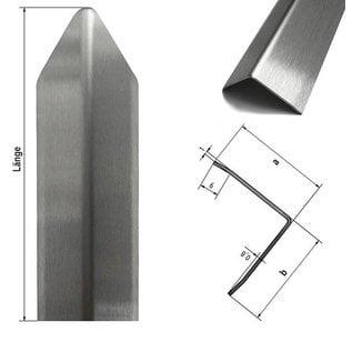 Versandmetall Corner protection angle modern 3-way chamfered for walls corners and edges 40x40x1mm length 1500 mm brushed grain320