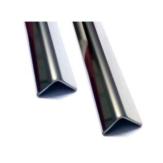 Versandmetall Edelstahlwinkel ungleichschenkelig 90° Länge 1250 mm