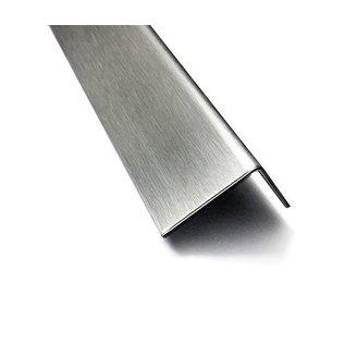 Versandmetall Edelstahlwinkel ungleichschenkelig 90° Länge 2000 mm