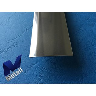 Versandmetall Joint cover strip made of 1.4301 from IIID sheet mirror-polished surface 2-fold 172 ° beveled