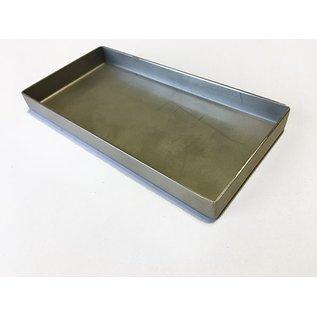 Versandmetall V4A 316L Edelstahlwanne geschweißt Materialstärke 1,5mm  Breite 250 mm Außen Schliff K320