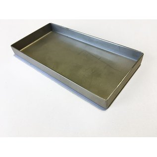 Versandmetall V4A 316L Edelstahlwanne geschweißt Materialstärke 1,5mm  Breite 300 mm Außen Schliff K320