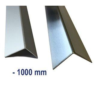Versandmetall Aluminum angle isosceles 90 ° folded up to length 1000 mm