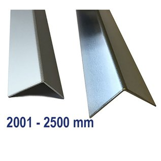 Versandmetall Aluminum angle isosceles 90 ° folded up to length 2500 mm