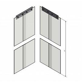 LSTi Paar (2St) Weich-PVC-Lamellen 200/2, transparent, antistatisch