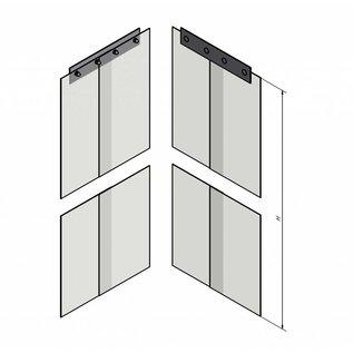 LSTi Paar (2St) PVC-Vorhangstreifen Breite 200mm, Dicke 2mm, Ausführung transparent und antistatisch