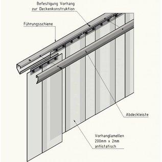 LSTi 2-teiliges Edelstahl Befestigungsschienen System  für Reinraumvorhang