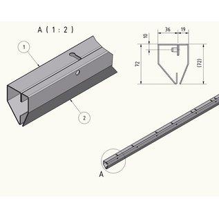 LSTi 2-teiliges Aluminium Befestigungsschienen System  für Reinraumvorhang