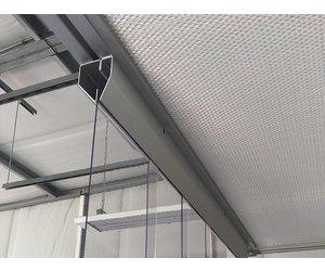 Befestigungsschiene 1,25m breit f/ür Lamellen Lamellenvorhang PVC-Streifenvorhang