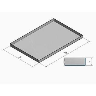 Versandmetall V4A 316L Edelstahlwanne geschweißt Materialstärke 1,5mm  Breite 200 mm Außen Schliff K320