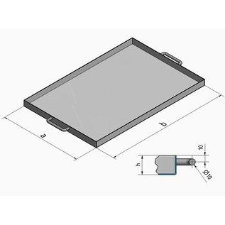 Versandmetall Edelstahlwanne R1 geschweißt Materialstärke 1,5mm  Breite 200 mm Außen Schliff K320