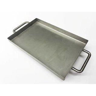Versandmetall Edelstahlwanne R1 geschweißt Materialstärke 1,5mm  Breite 250 mm Außen Schliff K320