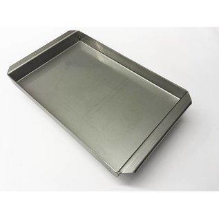 Versandmetall Edelstahlwanne R2  geschweißt Materialstärke 1,5mm  Länge/Tiefe (a)  450 mm Außen Schliff K320
