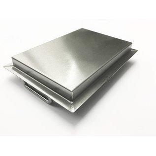 Versandmetall Edelstahlwanne R3  geschweißt Materialstärke 1,5mm  Länge/Tiefe (a)  600 mm Außen Schliff K320