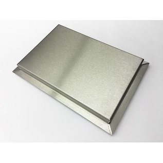 Versandmetall Stainless steel tub R3 welded Material thickness 1.5mm length / depth (a) 200mm outside ground K320
