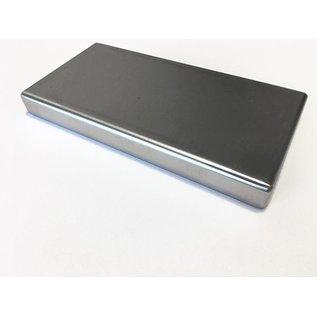 Versandmetall -Sonder-Edelstahlwanne Reihe 1 Ecken geschweißt 1,5mm h=20mm axb 200x2200mm  einseitig-  Schliff K320