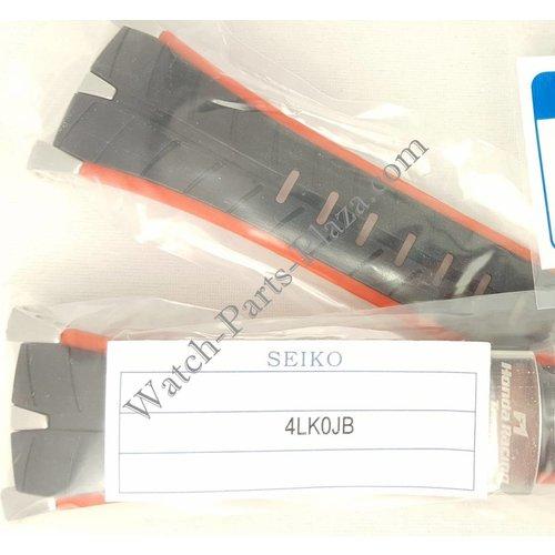 Seiko SEIKO SPC009 Honda F1 Racing Strap 7T82-0AF0 Black Red Silicone Watch Band