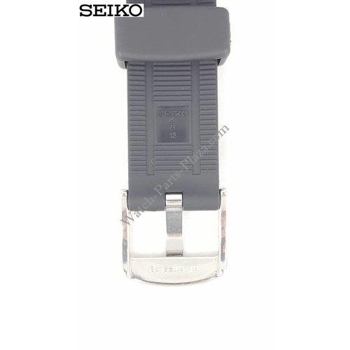 Seiko Seiko Kinetic SSKA445 correa de reloj de caucho negro SNAD35 correa 30 mm