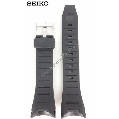 Seiko Reloj Band Seiko 7T62-0HT0 Negro Rubber SNAC01P1 Strap SNAB99P1