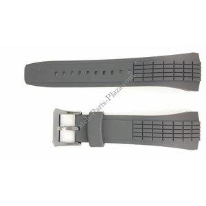 Seiko Horlogeband - Seiko SNAE17 Horlogeband 7T62-0KN0 Zwart Rubber