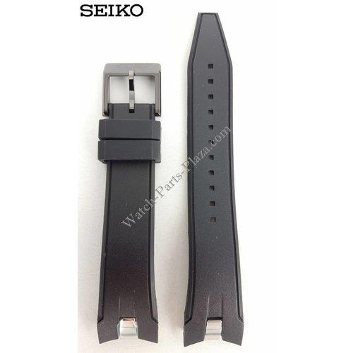 Seiko Horlogeband Seiko Sportura SNAE89 Band Zwart 7T62-0LC0 21 mm