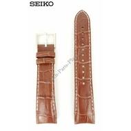 Seiko Horlogeband Seiko SNP055 - 7D48-0AK0 21mm bruin leer