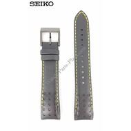 Seiko Seiko SNAE67 Watch Band 7T62-0KV0 21mm black & yellow stitching