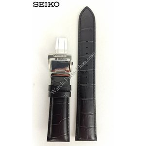 Seiko Seiko SARG017 horlogeband 6R15-02V0 20 mm zwart