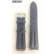 Seiko Seiko 7N47-6A00 Horlogeband 7T32-7C40 Blauw Leer