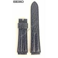 Seiko Seiko Age Of Discovery Horlogeband Blauw Leer 18mm