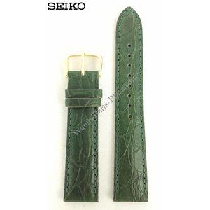 Seiko Seiko horlogeband 7T32-6B40 groen leer 19 mm