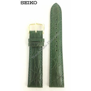 Seiko Seiko Uhrenarmband 7T32-6B40 Grünes Leder 19 mm