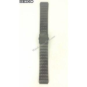 Seiko Seiko SCED037 pulsera de acero negro 7T12-0BM0 correa de reloj
