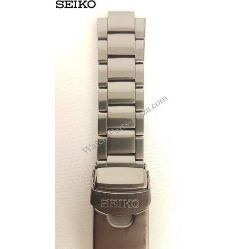 Seiko Seiko 7T94-0BL0 Stalen Band SNN233P1 SNN237P1 Horlogeband Zwart 22mm