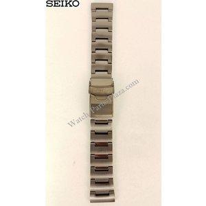 Seiko Pulseira de aço preta para Seiko Monster Watches 22MM - 30081MM