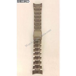 Seiko Seiko 7T62-0HL0 Horlogeband Zwart Roestvrij Staal SNAB53
