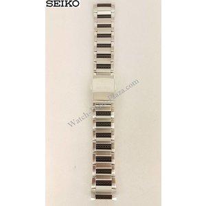 Seiko Seiko 9T82 pulseira de aço SLQ021 SLQ023 faixa de relógio