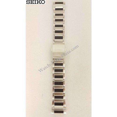 Seiko Seiko 9T82-0AG0 Horlogeband Staal 9T82-0AH0