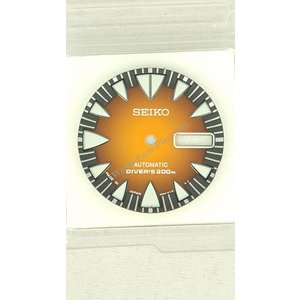 Seiko SRP311 Wijzerplaat 4R36-01J0 Fang Monster Oranje