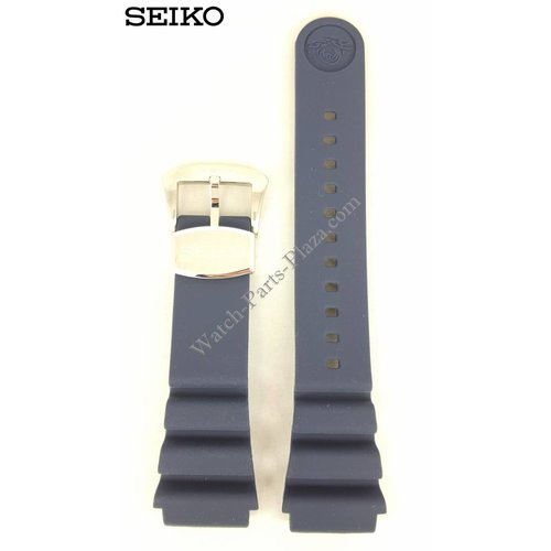 Seiko SEIKO SRPA83 Blue Silicon Watch Band 22 mm PADI Special Edition